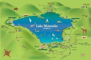 本栖湖MAP